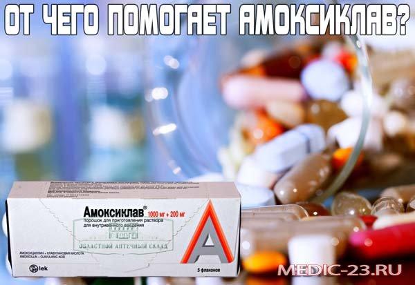 Амоксиклав - от чего помогает это лекарство
