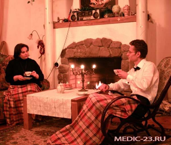 Чаепитие дома в приятной обстановке