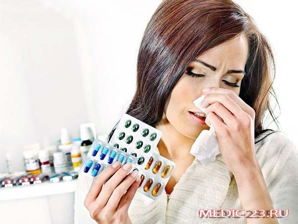 Насморк из-за аллергии