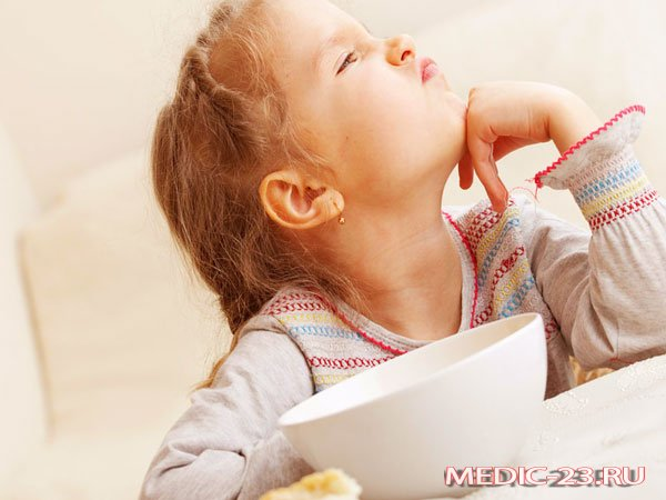 У девочки нет аппетита